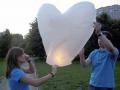 Небесный фонарик. Сердце 90 см.